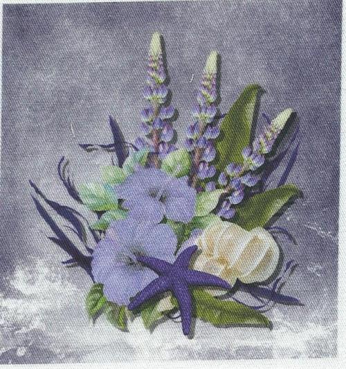 bavlněná látka - panel 8,5 x 9 cm