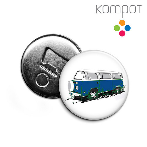 Otvírak s minibusem :: modrý