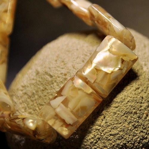 PER901 Perleť obdélník Cappucino 18x13 mm