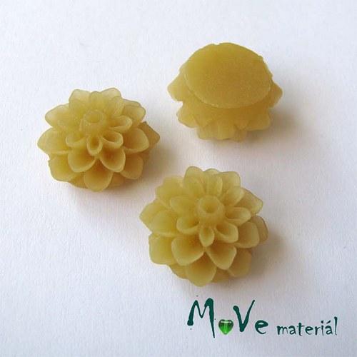 Kabošon květ transparent A6 - resin - 2ks, béžový
