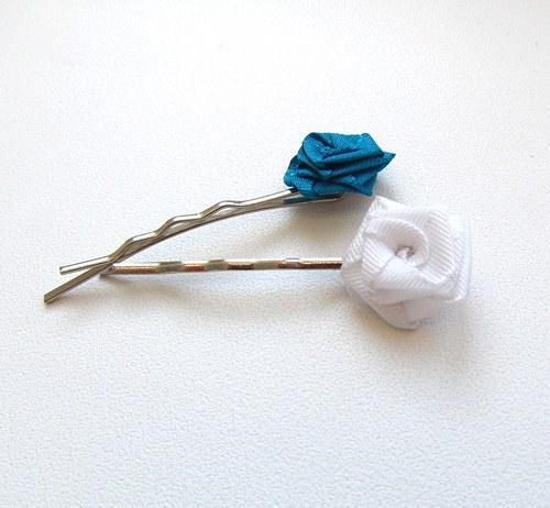 sponky do vlasů mini - Růžičky