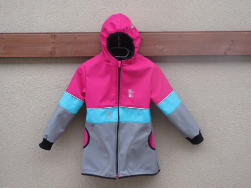 Softshellový kabátek - rub fleec vel.134/140