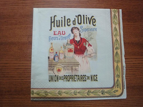 Ubrousek na decoupage - Huile d\'olive