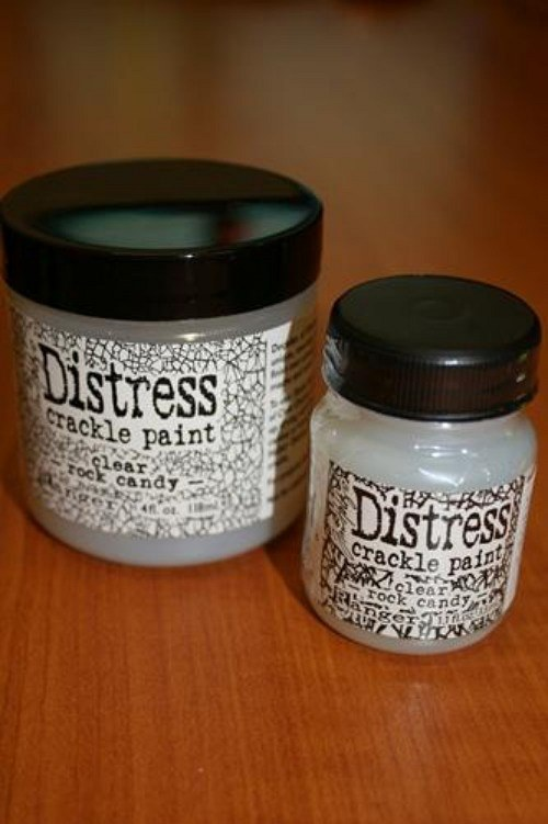 Distress Crackle Rock Candy - čiré médium