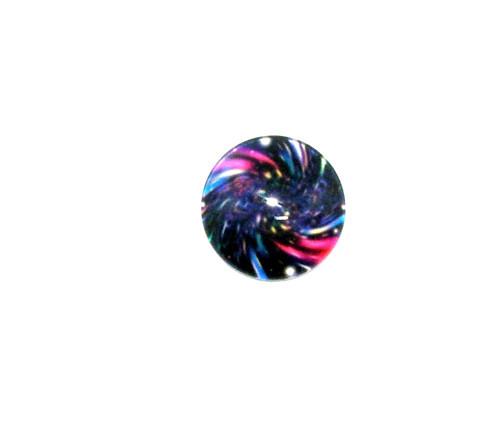 Kabošon sklo , grafický motiv , 20 mm