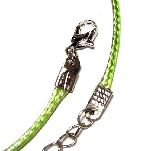 Povoskovaná šňůrka - zelená