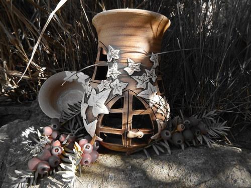 Aromalampa s břečťanem - vrátka