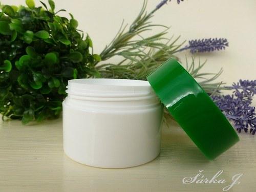 kosmetická dóza se zeleným víčkem, 50 ml
