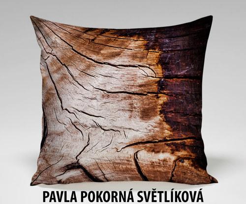 Foto povlak na polštář #1 - DŘEVO