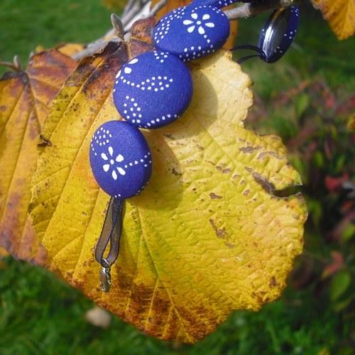 Buttonkový set tmavě modrý