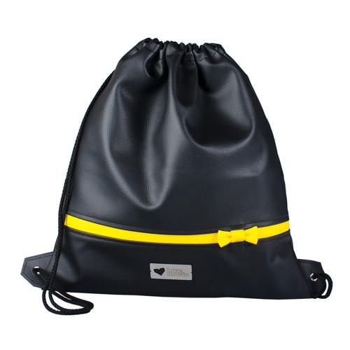 Koženkový vak na záda XL - Žlutý pásek