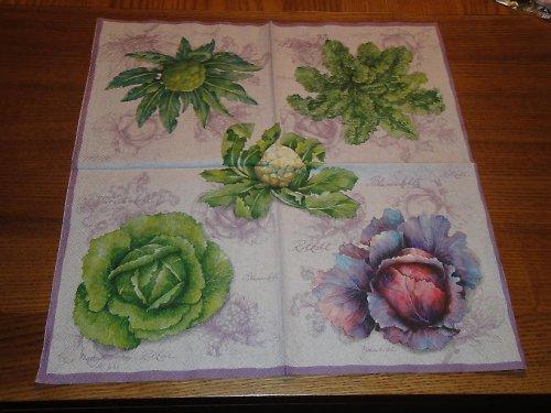 Ubrousek na decoupage - saláty