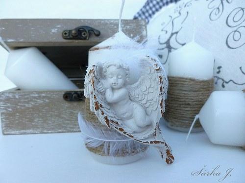 vintage home candle - andělské snění