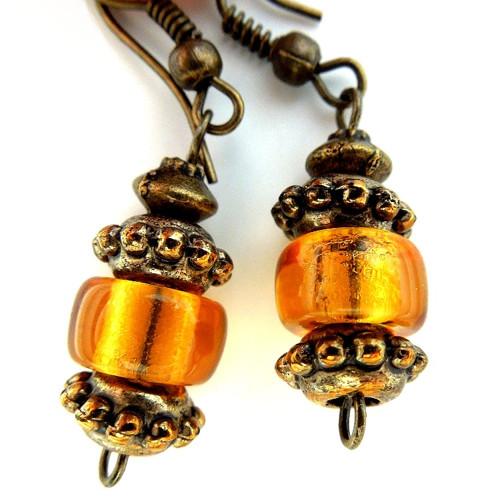 Náušnice Oranžové lampionky