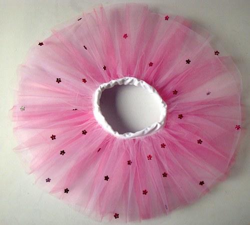 Bílo/růžová kytičková  (3-6 let) SLEVA z 420,-