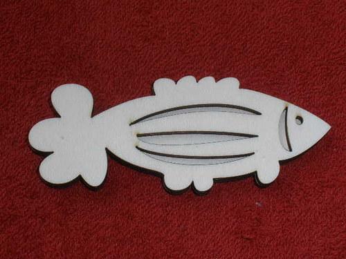 Razítko překližka ryba č.1 - v.4,3x10,5cm