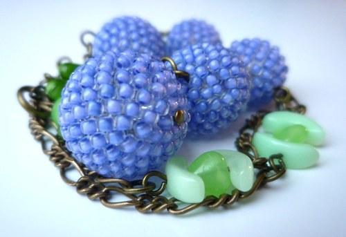 Dlouhý šeříkový náhrdelník