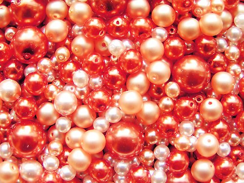 Voskové perle - oranžovolososová směs - směs