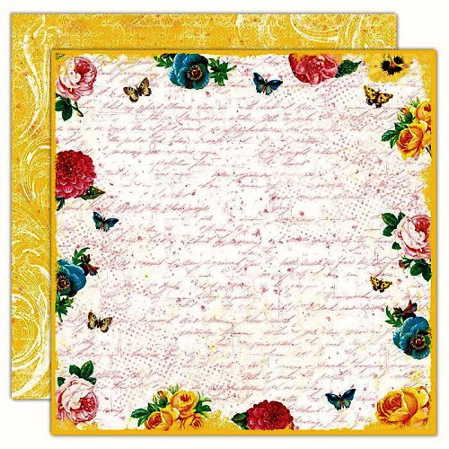 Papír Floral Border-Boho Blooms