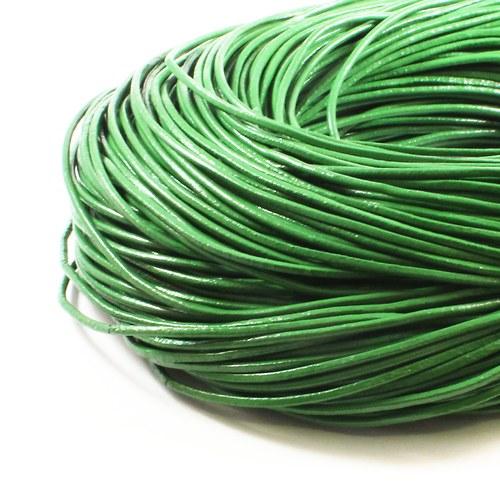 Kůže kulatá 2 mm zelená 1 m