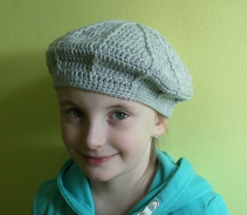 NAVOD 11- Dívčí baret 52-56 cm...i jiné barvy.
