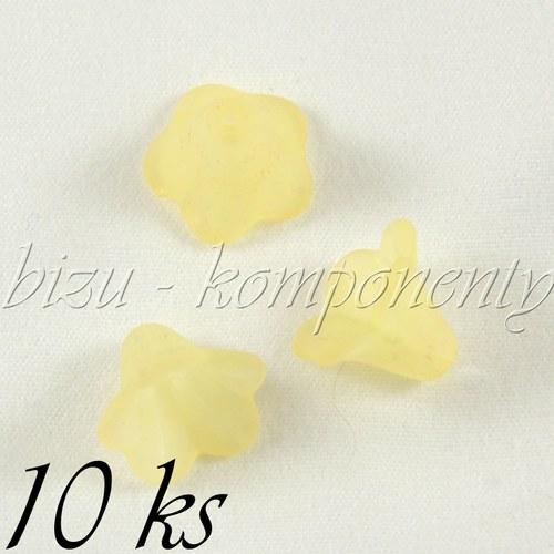 Žluté akrylové zvonečky - 10ks