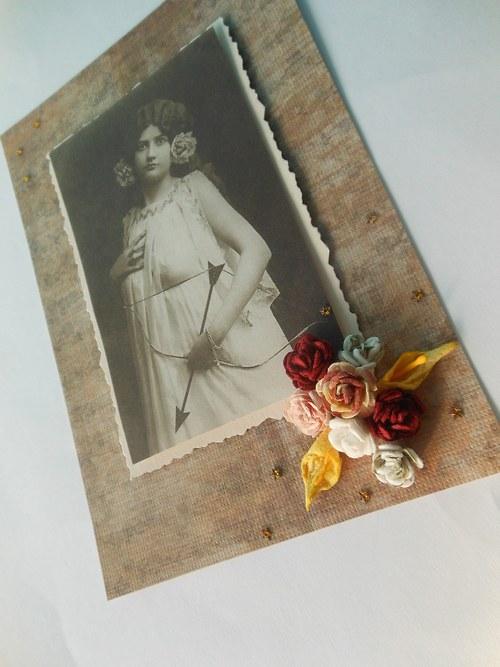 Scrapbookové přání s růžemi - pod hvězdným nebem