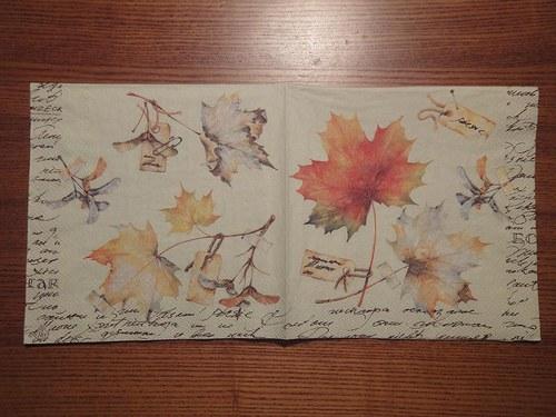 Ubrousek na decoupage - javorové listy