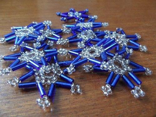 Set modrých minihvězdiček