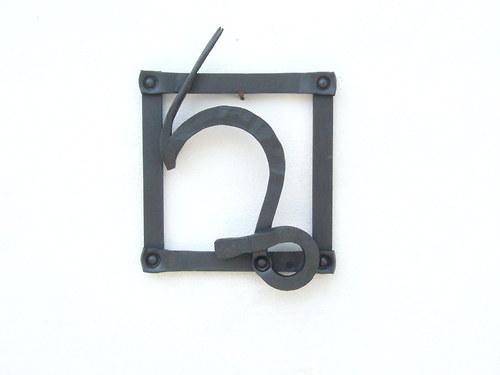 Kovaný obrázek - znamení kozoroh