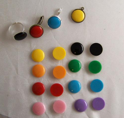 Akryl. čočka PASTEL plochá/ fialová/ 16mm/ 2ks