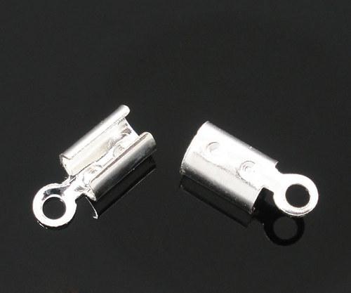Koncovka kulatá / stříbro/ 3x8mm/ 20ks