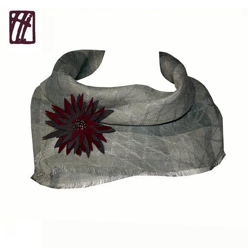 Šátek s broží Podzimní melancholie