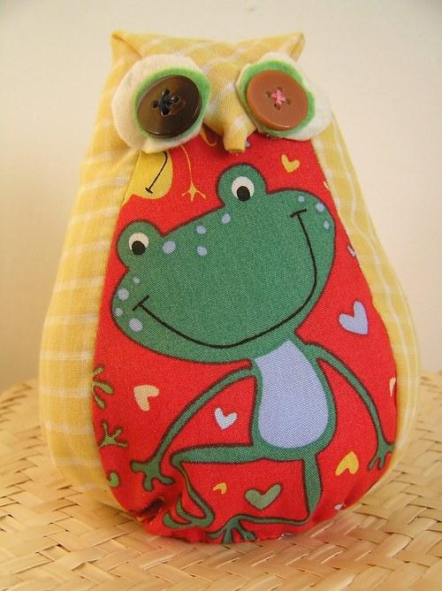 sůva s nudlí - zelená žabka