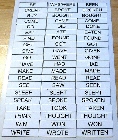 Magnetická nepravidelná slovesa - angličtina (20)