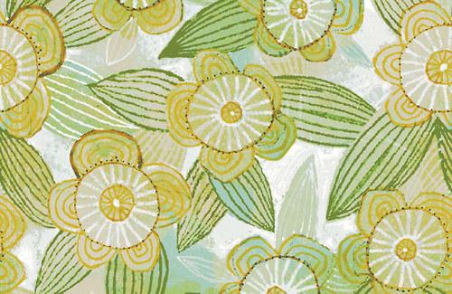Látka The Sweet Life žluté květy