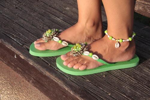 Plážová letní souprava - zelená (sleva)