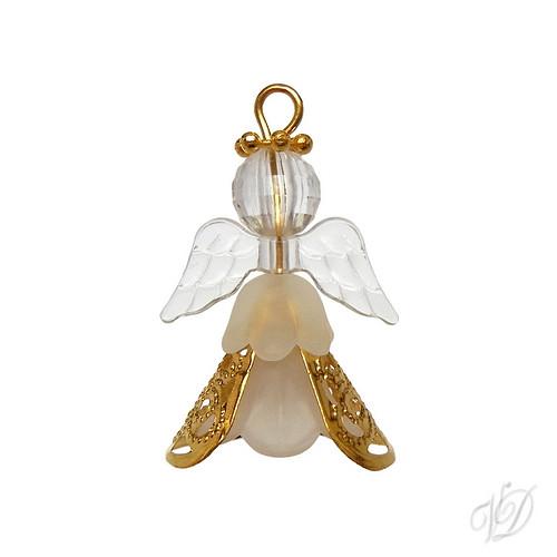 Korálkový andělíček pro štěstí M (KO234)