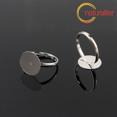 Základ na prsten s ploškou 12mm platinová barva