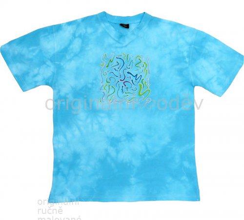Batikované tričko pánské - šipky
