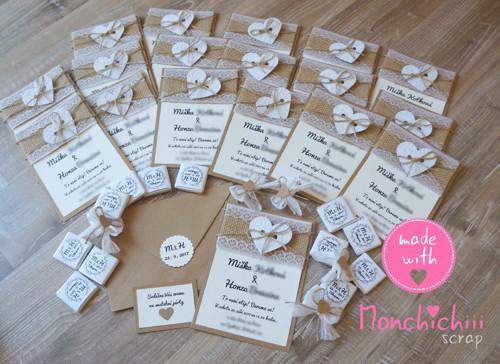 Svatební oznámení včetně zdobené obálky -  31