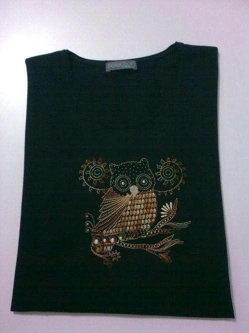 Dámské tričko výšivka  nadměrná velikost