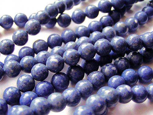 Malá kulička z modrého korálu ((PM163))