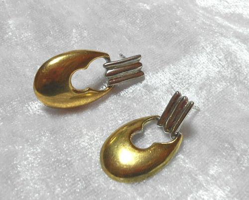 Stříbrné naušnice pozlacené (1)