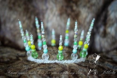 zelenkavá korálková korunka