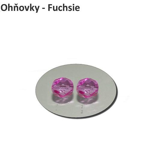 Ohňovky 4 mm - FUCHSIE - 50 ks
