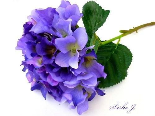 luxusní květ POURPRE HORTENSIA