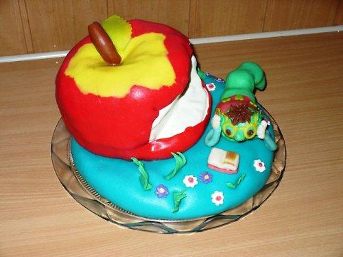 dětský dort-chytrá housenka/ODBĚR V HLUČÍNĚ
