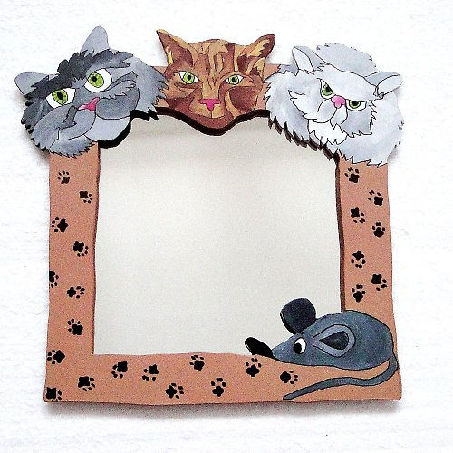 Zrcadlo - kočičí