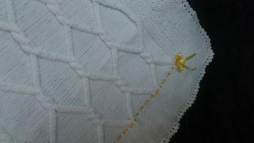 Dětská deka do kočárku, pletená